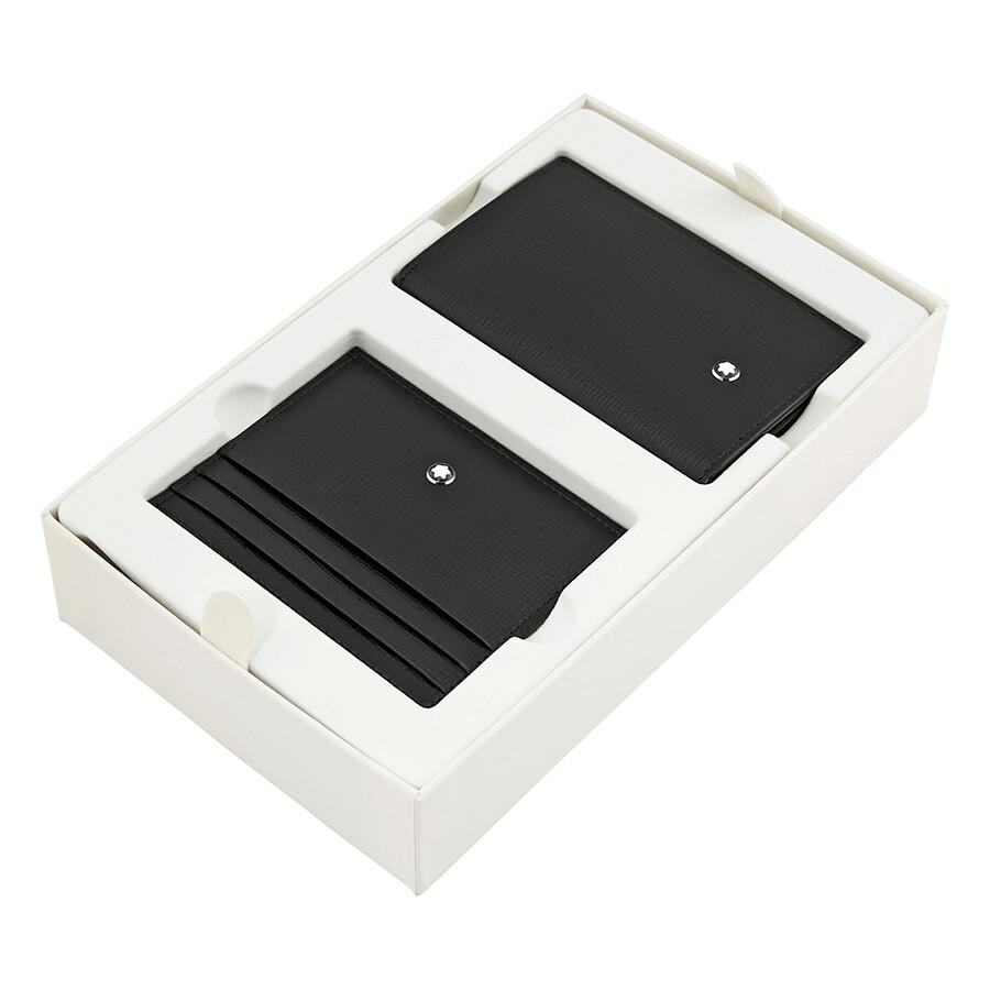 Montblanc Business Card Holder and 6 cc Pocket Gift Set- Black ...