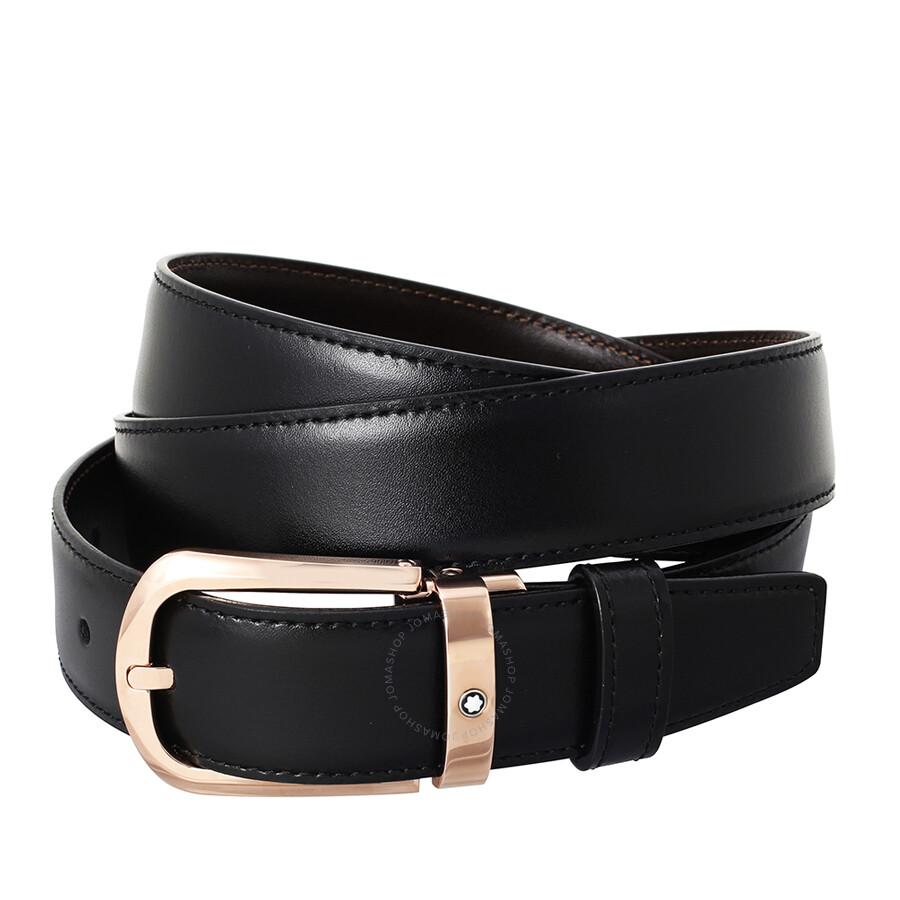 montblanc classic line leather belt 114413 apparel