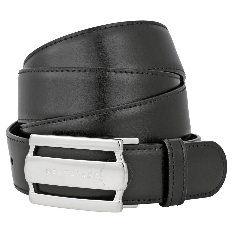 a12206beeb1 Montblanc Contemporary Line Rectangular Buckle Black Brown Reversible  Leather Belt 103431 ...