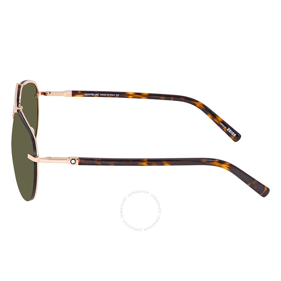 630a4dc8de31 Montblanc Green Aviator Sunglasses MB596S 28N 62 - Montblanc ...