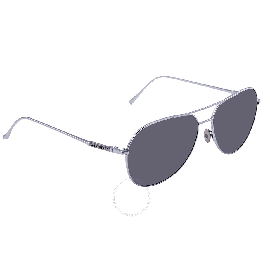 cbac46a0279 Montblanc Grey Aviator Sunglasses MB657S 16A 61 - Montblanc ...