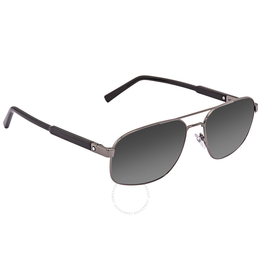4c924954b2b2 Montblanc Grey Gradient Aviator Sunglasses MB648S 08A 59 - Montblanc ...