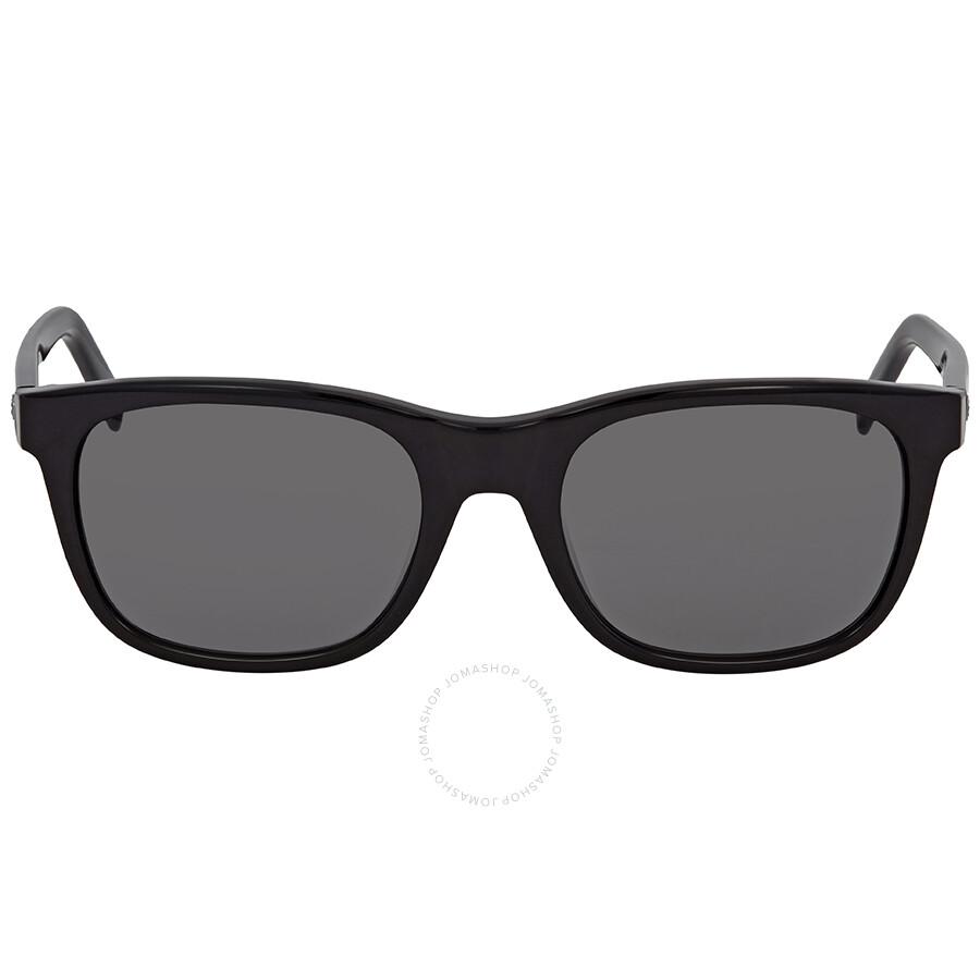 ea9ad75f3a9 Montblanc Grey Wayfarer Men s Sunglasses MB507S 01A 53 - Montblanc ...