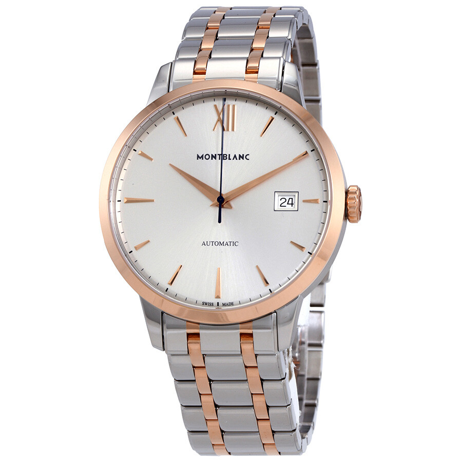 f4c029fd023 MontBlanc Heritage Spirit Automatic Silvery White Dial Watch 111625 ...