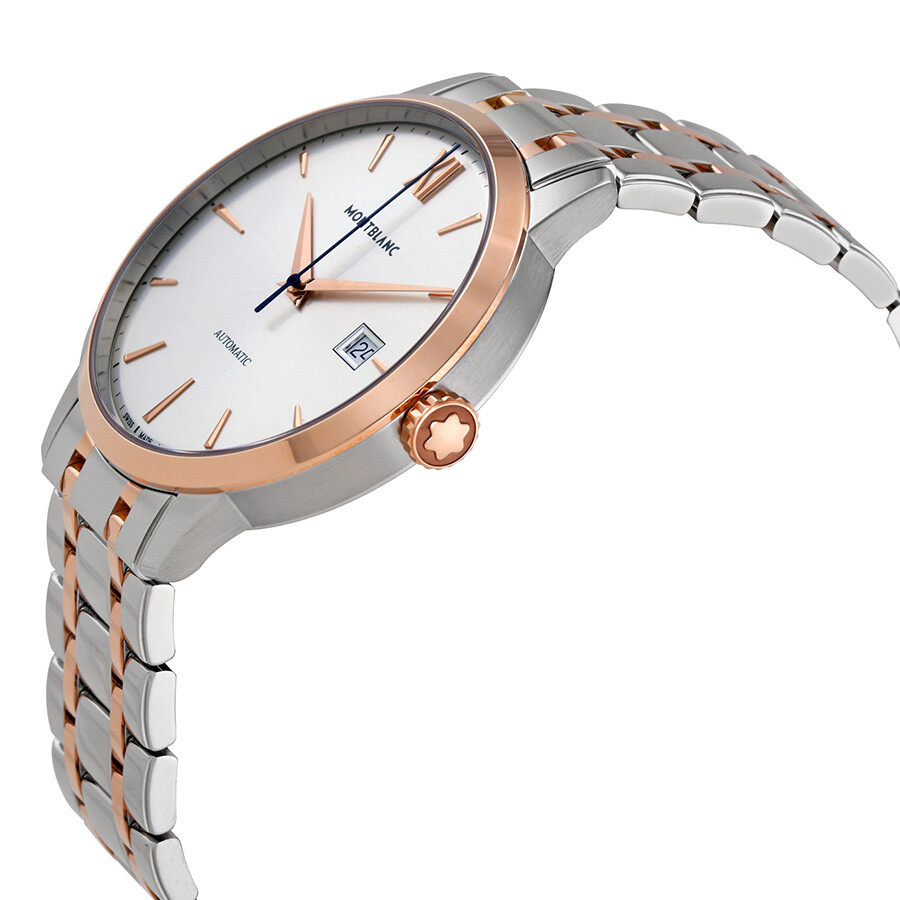 43963497de7 ... MontBlanc Heritage Spirit Automatic Silvery White Dial Watch 111625 ...