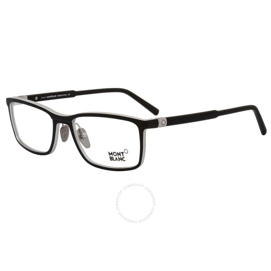 874faf533d71 Montblanc Matte Black Eyeglasses MB0616 002 55 - Montblanc ...