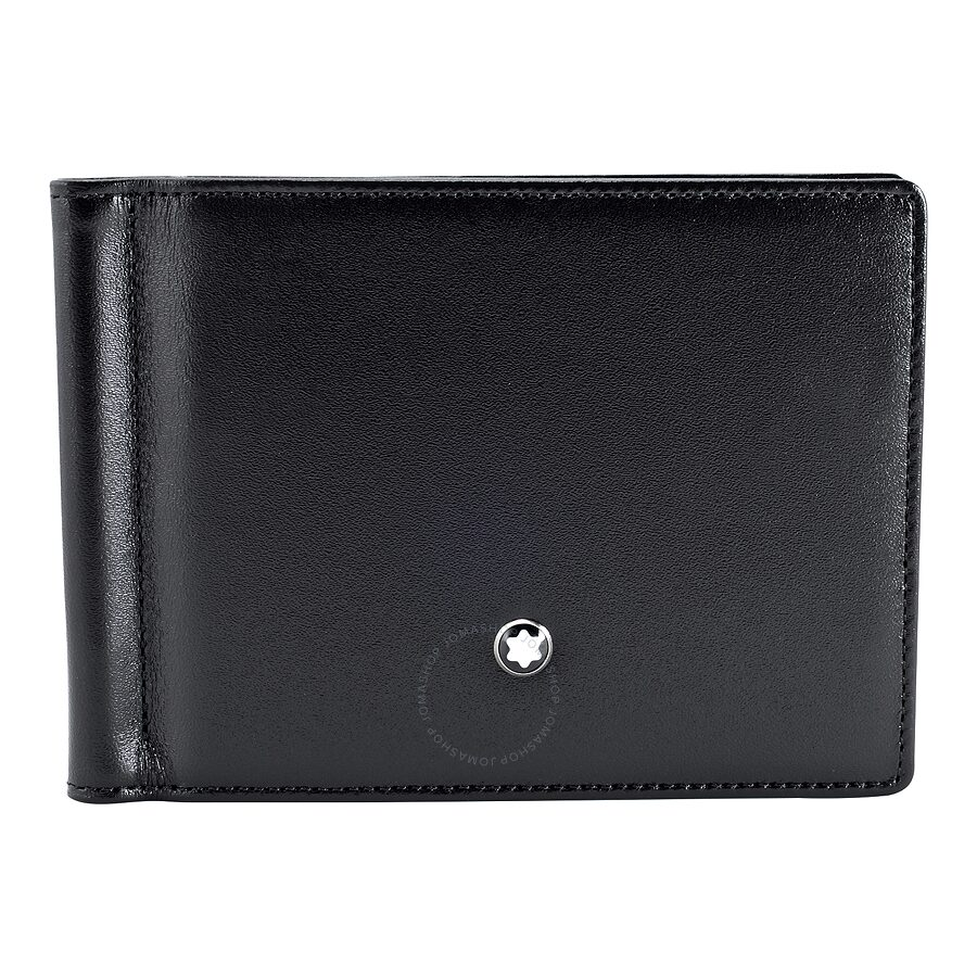 d3917a315985 MontBlanc Meisterstück 6 CC Men's Leather Wallet With Money Clip ...