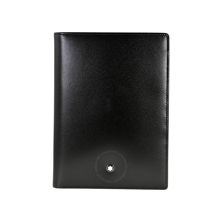 몽블랑 마이스터튁 지갑 Montblanc Meisterstuck 7CC Black Leather Vertical Wallet 14094