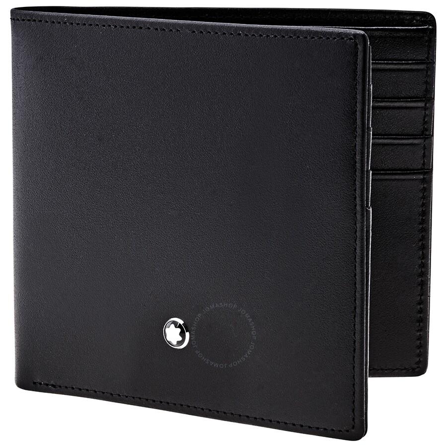 55c0dc4e5865d Montblanc Meisterstuck 8 CC Black Leather Wallet 7163 - Montblanc ...