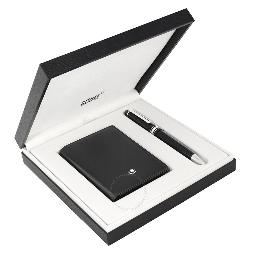 Mont blanc business card holder unlimitedgamers montblanc meisterstuck ballpoint pen and business card holder set colourmoves