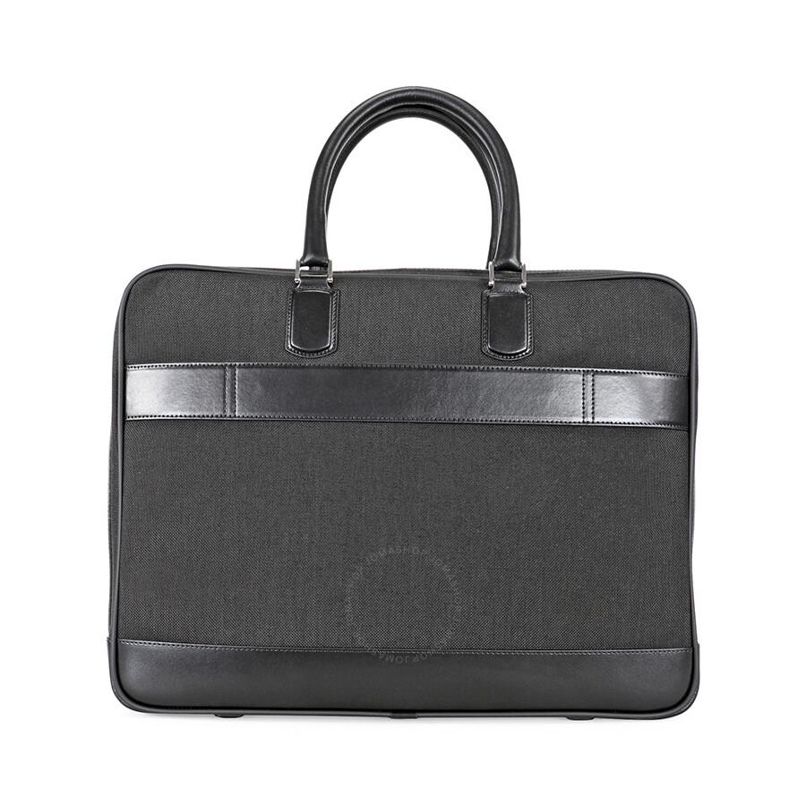 7ff45f2f78 Montblanc Meisterstuck Canvas Briefcase - Black - Montblanc ...