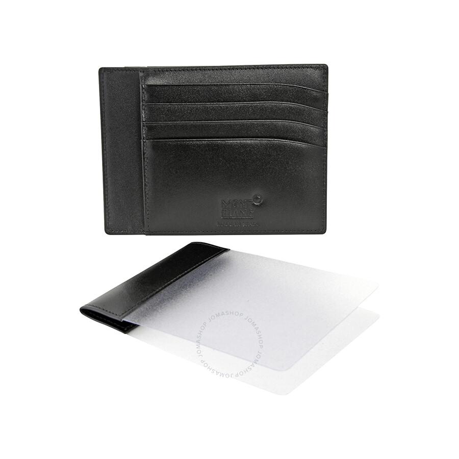 09c7417668d37 ... Montblanc Meisterstuck Front Pocket Leather Wallet - Black
