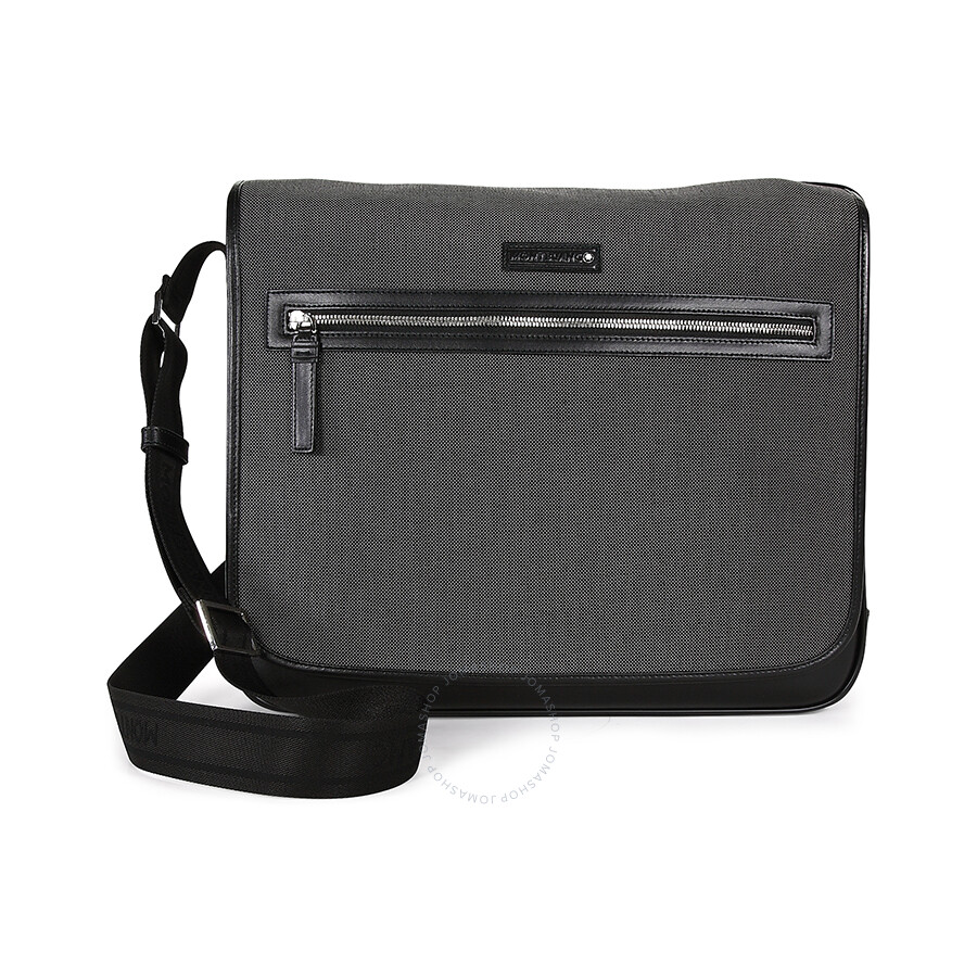 0ec84d3226 Montblanc Meisterstuck Grey Canvas Large Messenger Bag 106738 ...