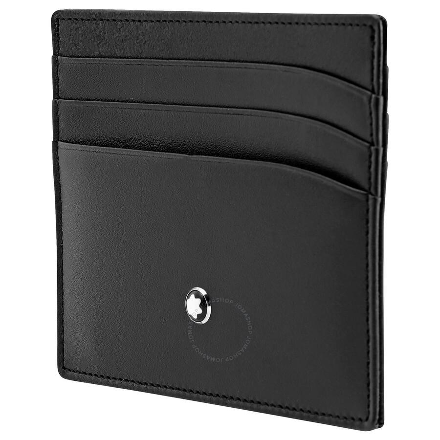 a1e64eb8 Montblanc Meisterstuck Selection Black Leather Pocket Credit Card Holder  106653