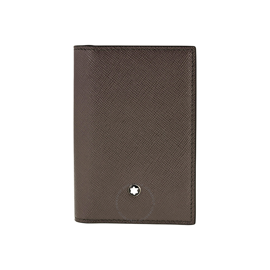 Montblanc Meisterstuck Selection Brown Leather Business Card ...