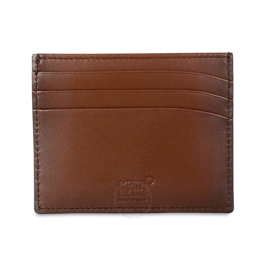 05a8dddf98f14 ... Montblanc Meisterstuck Sfumato Brown Leather Credit Card Holder 113173