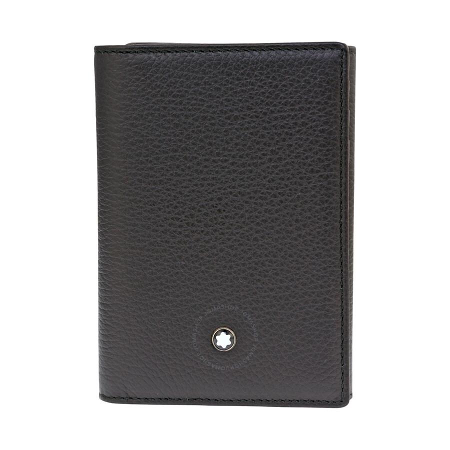 b64a9164f8b16 Montblanc Meisterstuck Soft Grain Trifold Card Holder Wallet - Black ...