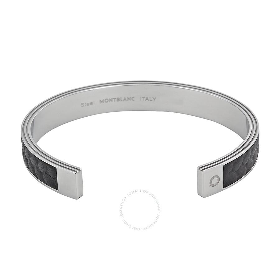hermes birkin outlet - Montblanc Monograin Steel and Leather Bangle Bracelet 11139960 ...