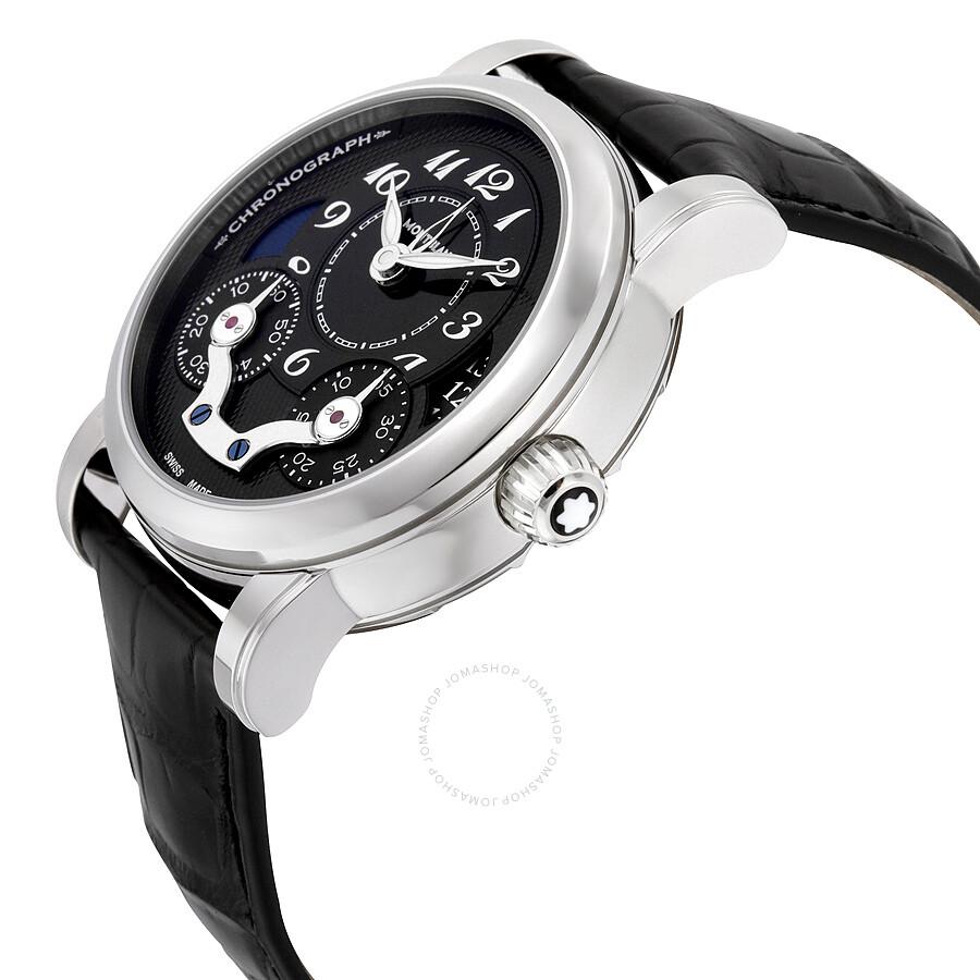 05dea9ce19e ... Montblanc Nicolas Rieussec Monopoussoir Chronograph Automatic Black  Dial Men's Watch 106488 ...