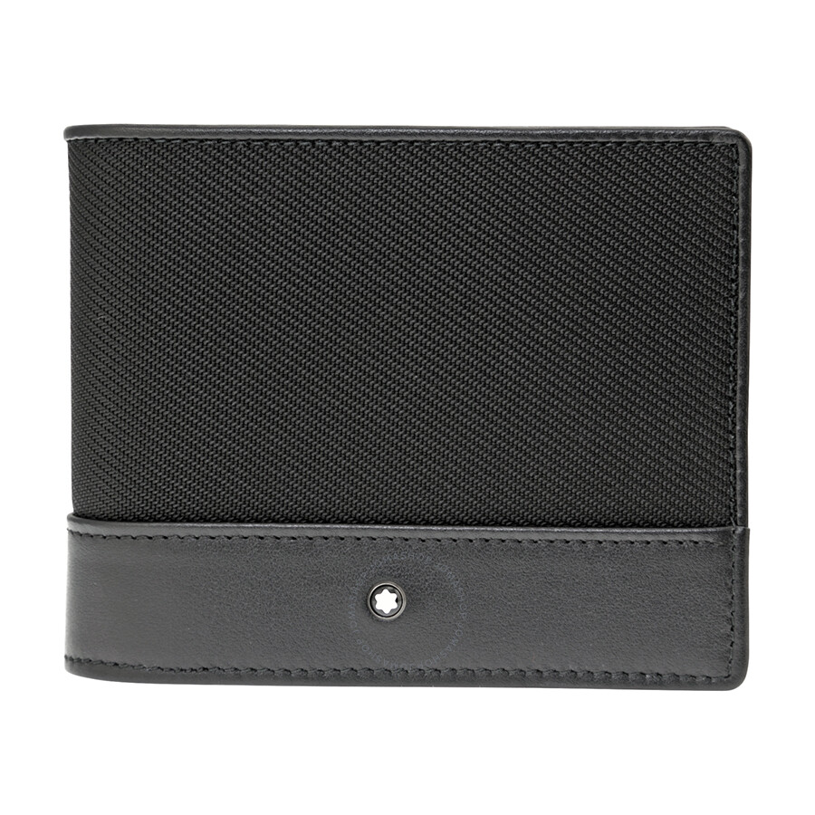 몽블랑 지갑 Montblanc Nightflight Black Nylon Wallet 113149