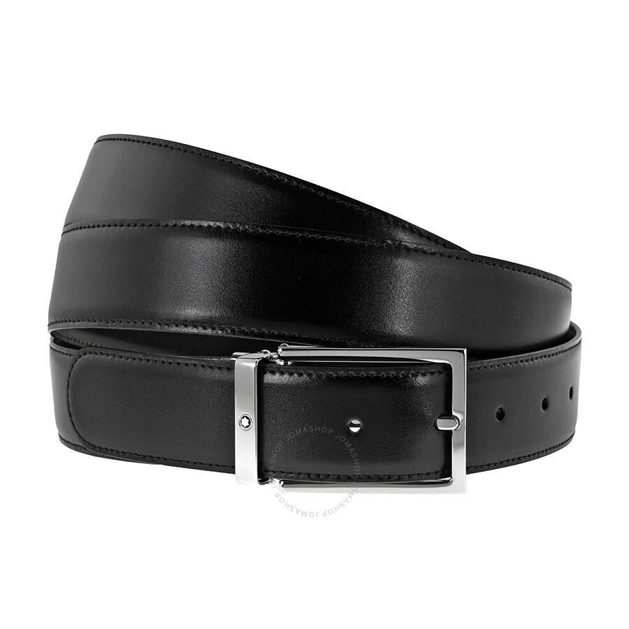 f0a19869ff0 Montblanc Reversible Black Brown Leather Belt 113347 - Fashion ...