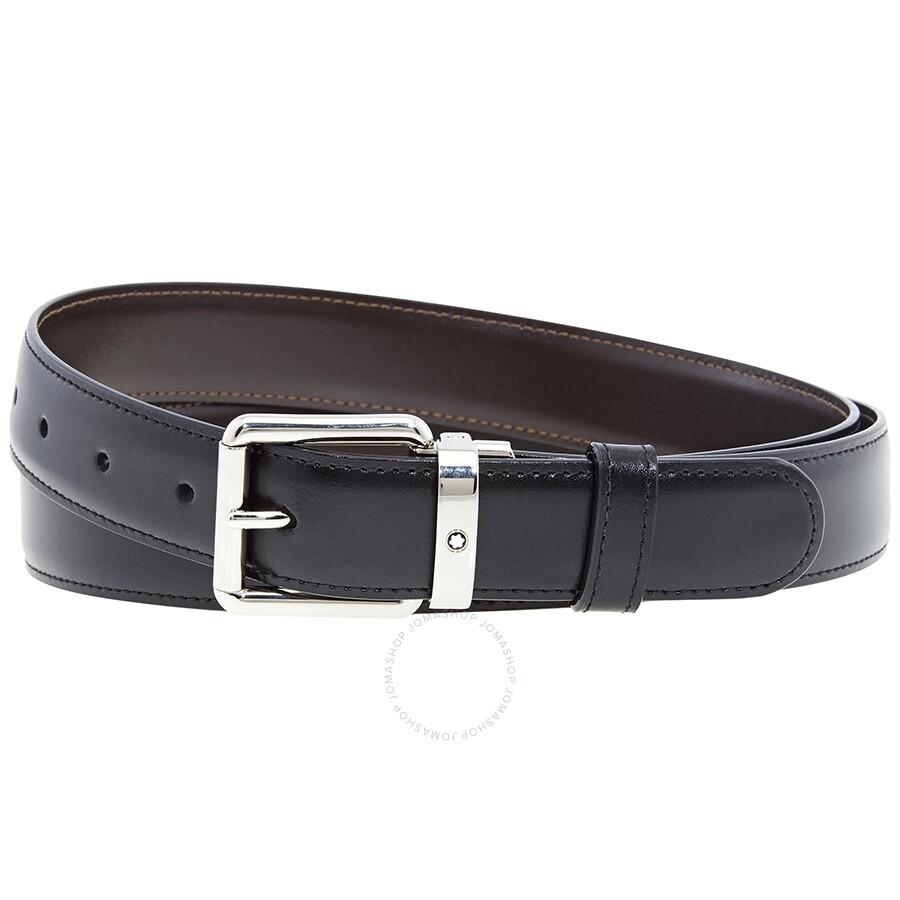 montblanc reversible calfskin leather belt 112961