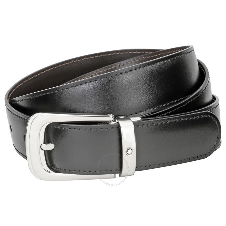 montblanc reversible leather belt 106603 apparel