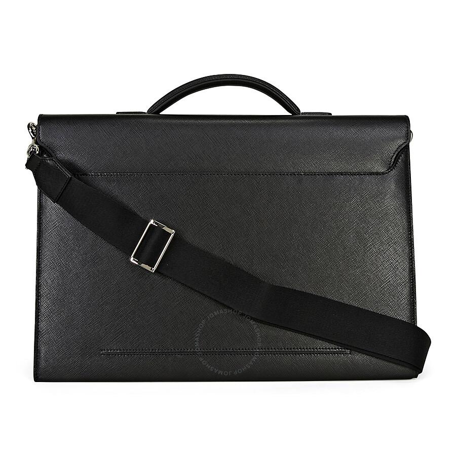 Montblanc Sartorial Double Gusset Briefcase- Black - Montblanc ... 061dfb2f1b