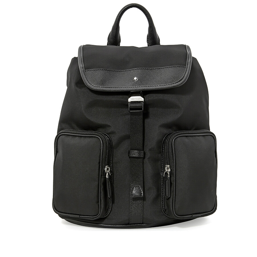 Montblanc Sartorial Jet Small Nylon Backpack - Black - Montblanc ... 4a2c9e2517