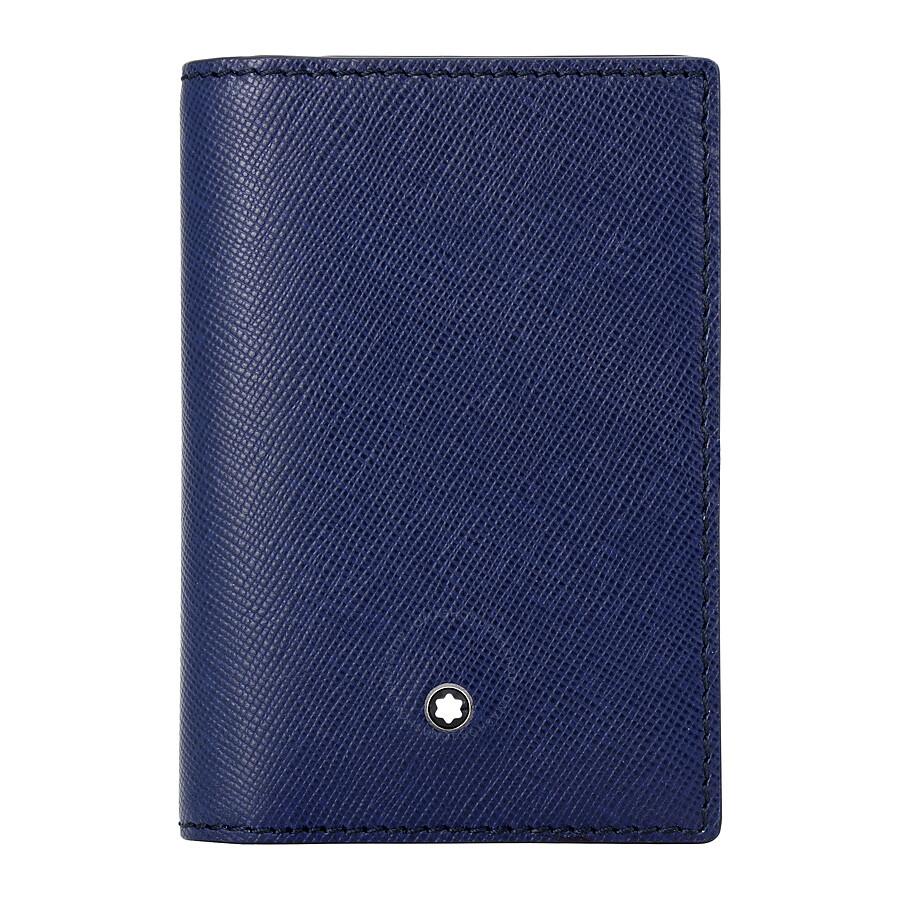 Montblanc Sartorial Leather Business Card Holder - Indigo ...