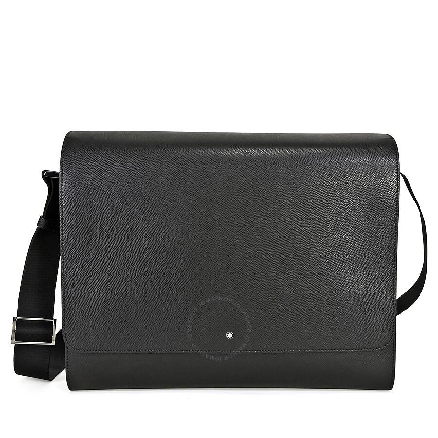 6d050fc9e284 MontBlanc Sartorial Messenger Bag- Black - Montblanc - Handbags ...
