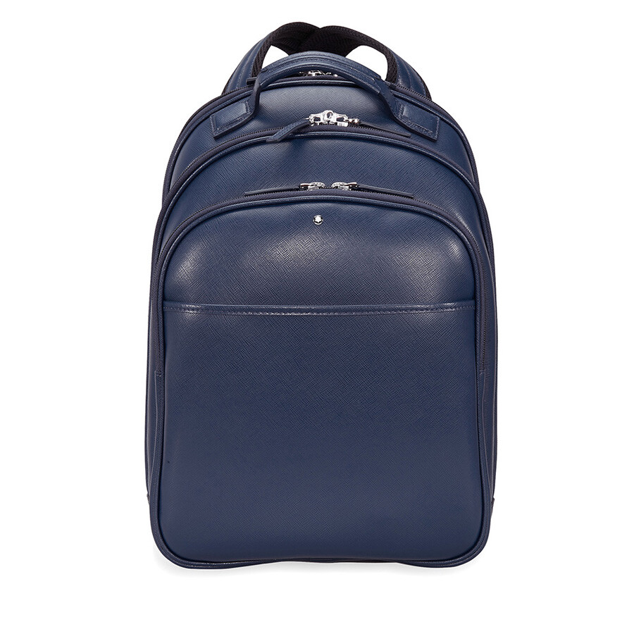 Montblanc Sartorial Small Leather Backpack - Indigo - Montblanc ...