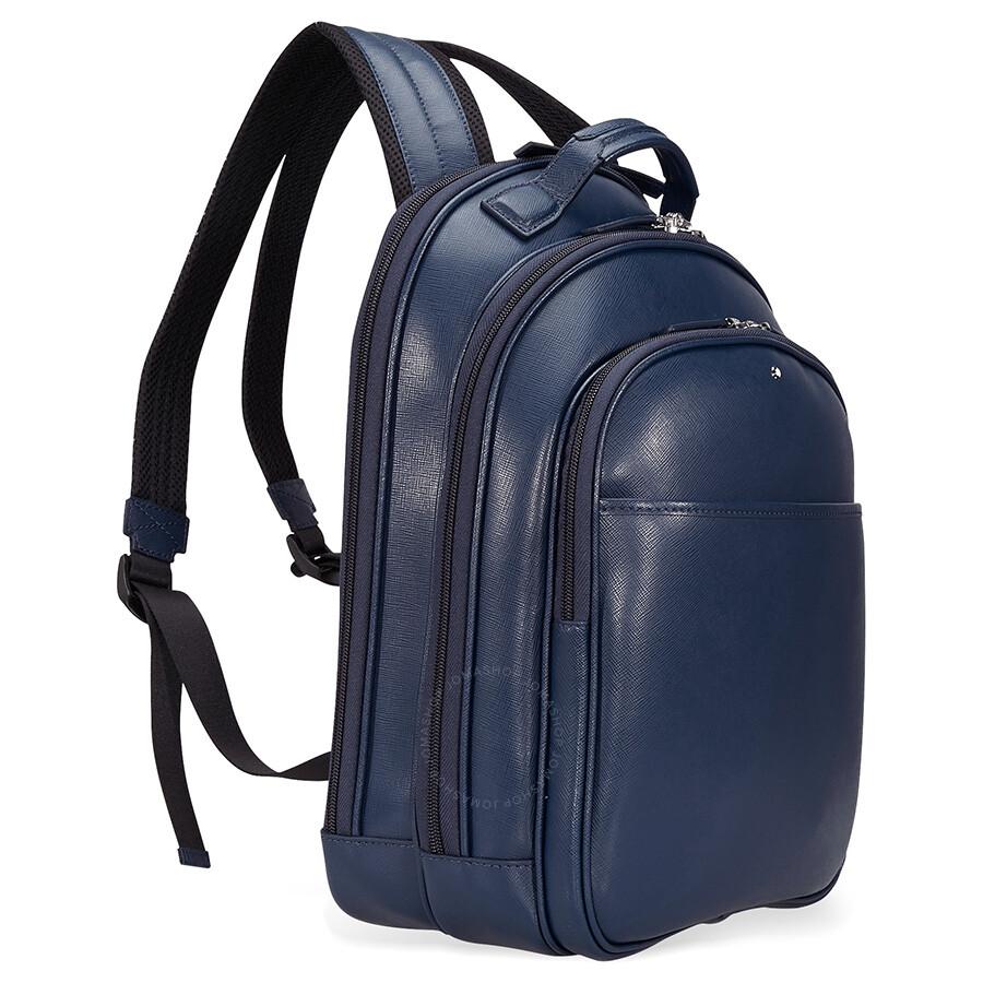5322afbe2b Montblanc Sartorial Small Leather Backpack - Indigo Montblanc Sartorial  Small Leather Backpack - Indigo ...
