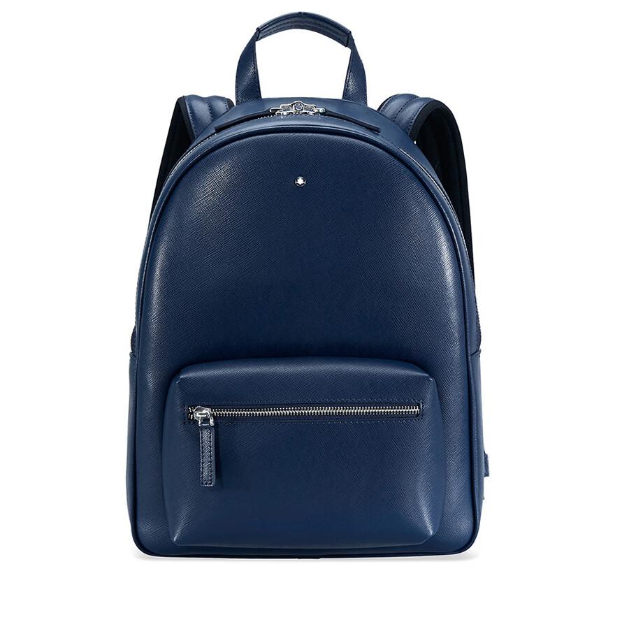 2f8688cada Montblanc Sartorial Small Leather Backpack - Indigo - Montblanc ...