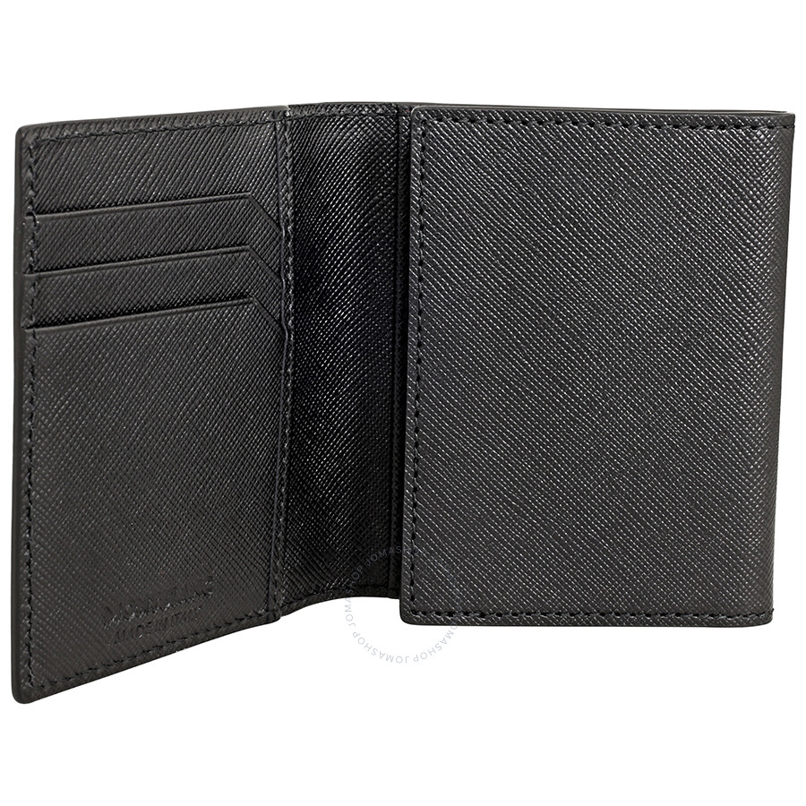 Montblanc Sartorial Trifold Business Card Holder Black