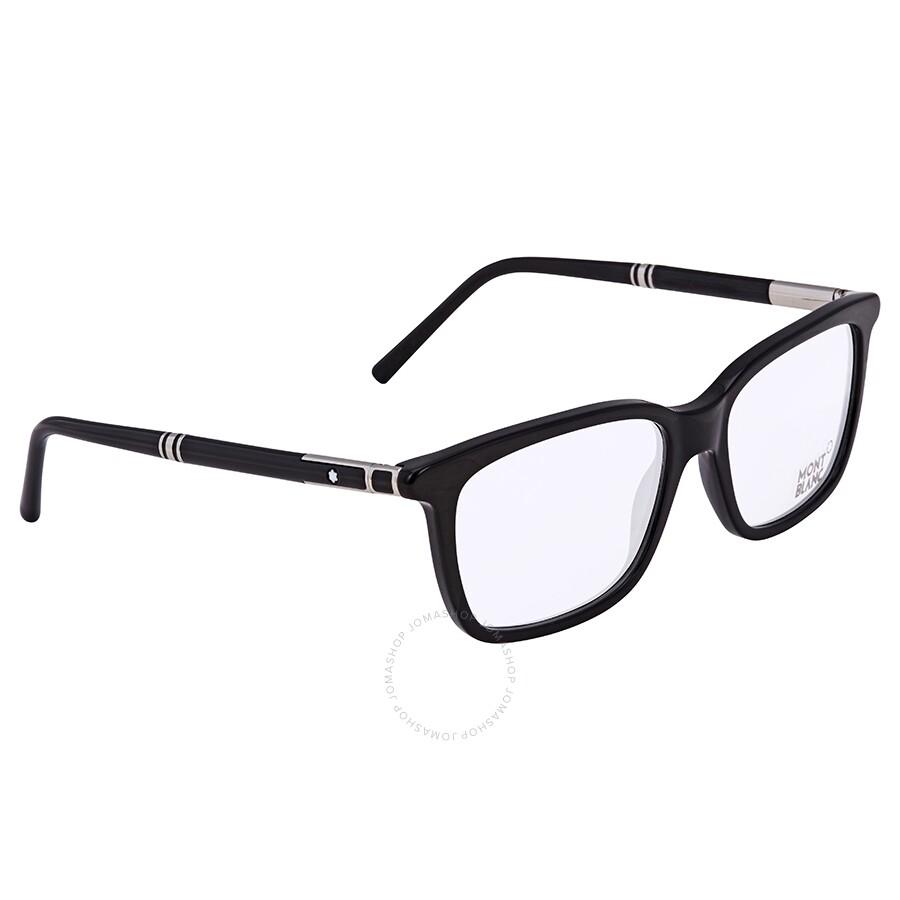 f3b87929df5 Montblanc Shiny Black Eyeglasses MB0489 001 56 - Montblanc ...