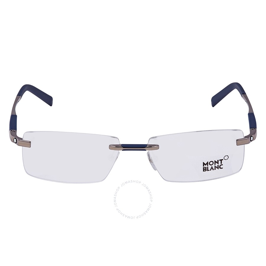 86af28718a Montblanc Shiny Light Ruthenium Eyeglasses MB0349 014 56 - Montblanc ...