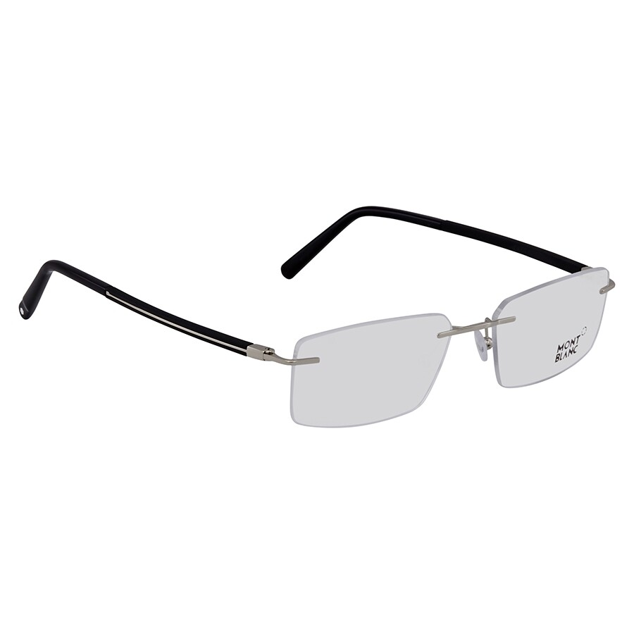 bbefaf31d398 Montblanc Shiny Palladium Men's Rimless Eyeglasses MB0731 016 56 ...