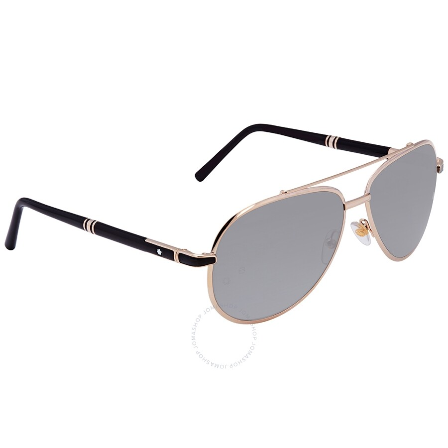 5fc6c3c51006 Montblanc Shiny Rose Gold Aviator Sunglasses MB526S 33D 62 ...