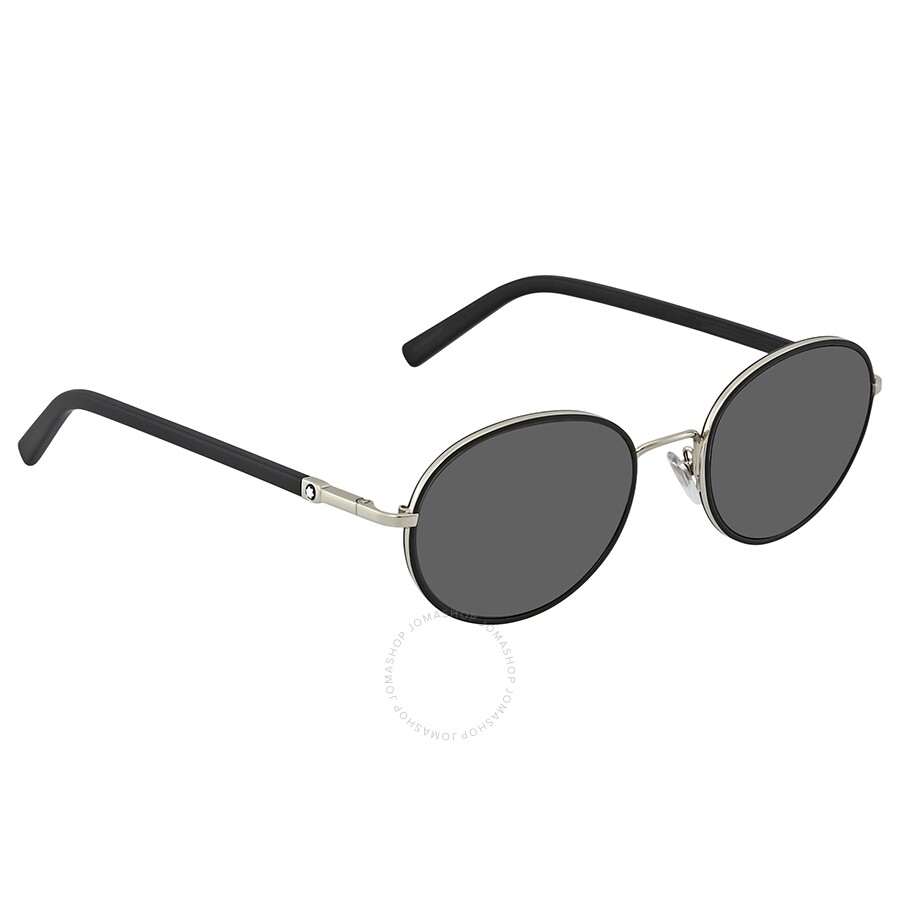 5a279b8c70 Montblanc Smoke Round Sunglasses MB598S 16A 53 - Montblanc ...