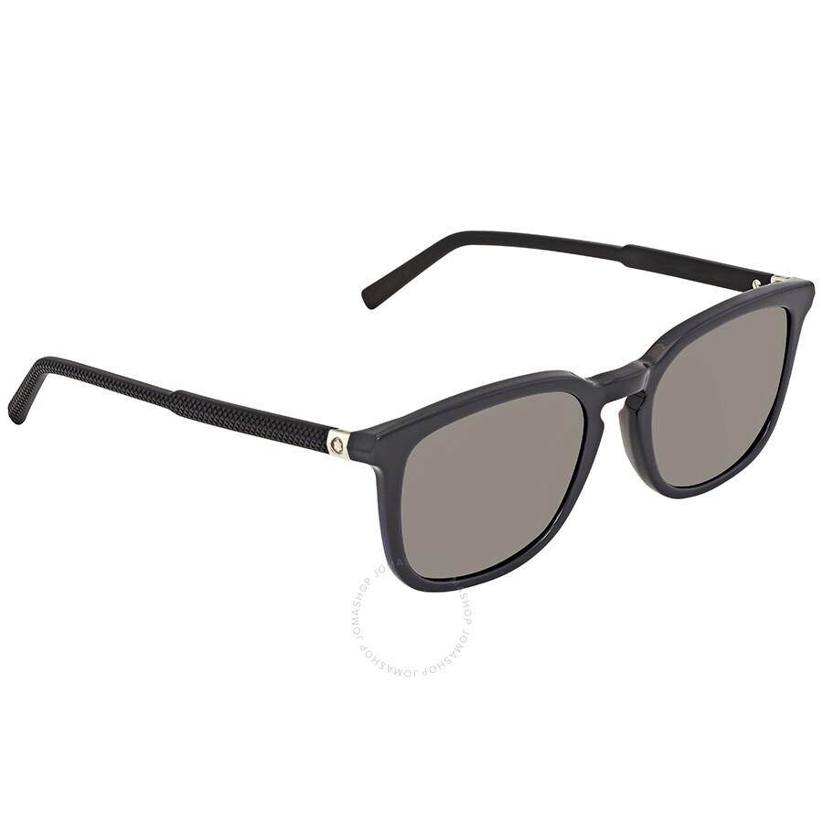 30748d3ecd4 Montblanc Smoke Square Sunglasses MB586S 20A 52 - Montblanc ...
