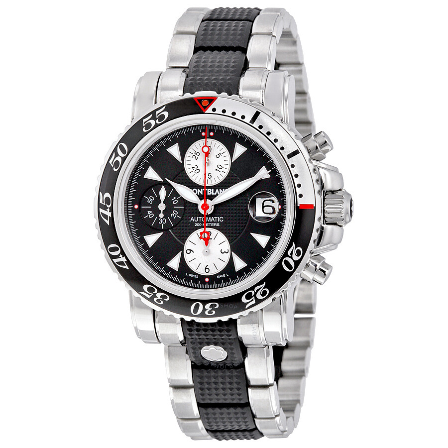 montblanc sport chronograph automatic stainless steel and