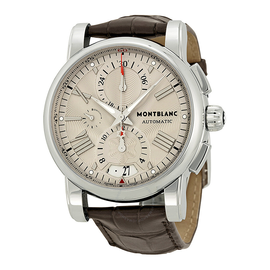 Montblanc star 4810 chronograph automatic silver doal for Montblanc house