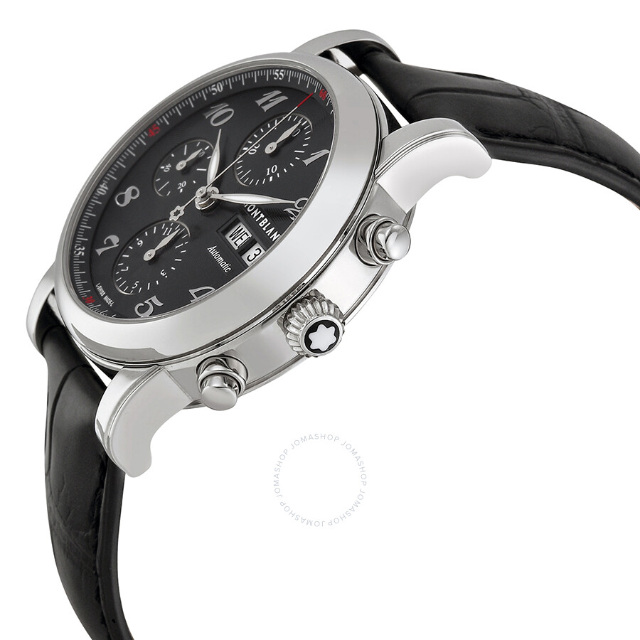 3c550ea45e2 ... Montblanc Star Automatic Chronograph Black Guilloche Dial Men's Watch  106467 ...