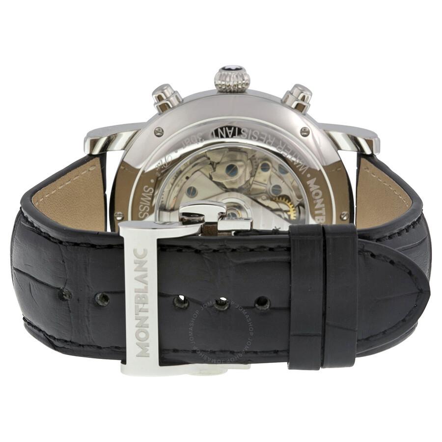 9986cb62d9bb2 ... Montblanc Star Automatic Chronograph UTC Silver Dial Men s Watch 110590  ...