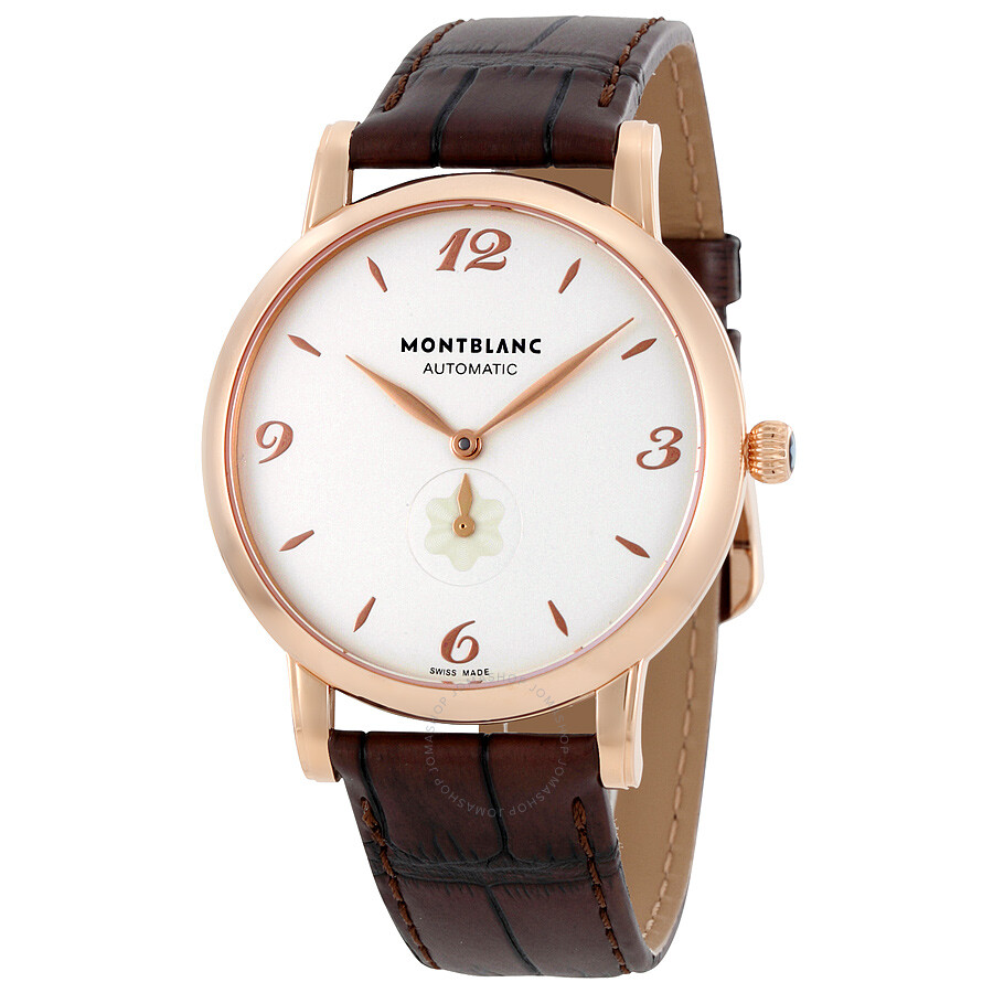 3d53a3bd3683b MontBlanc Star White Dial 18 Carat Rose Gold Automatic Men s Watch 107076  ...