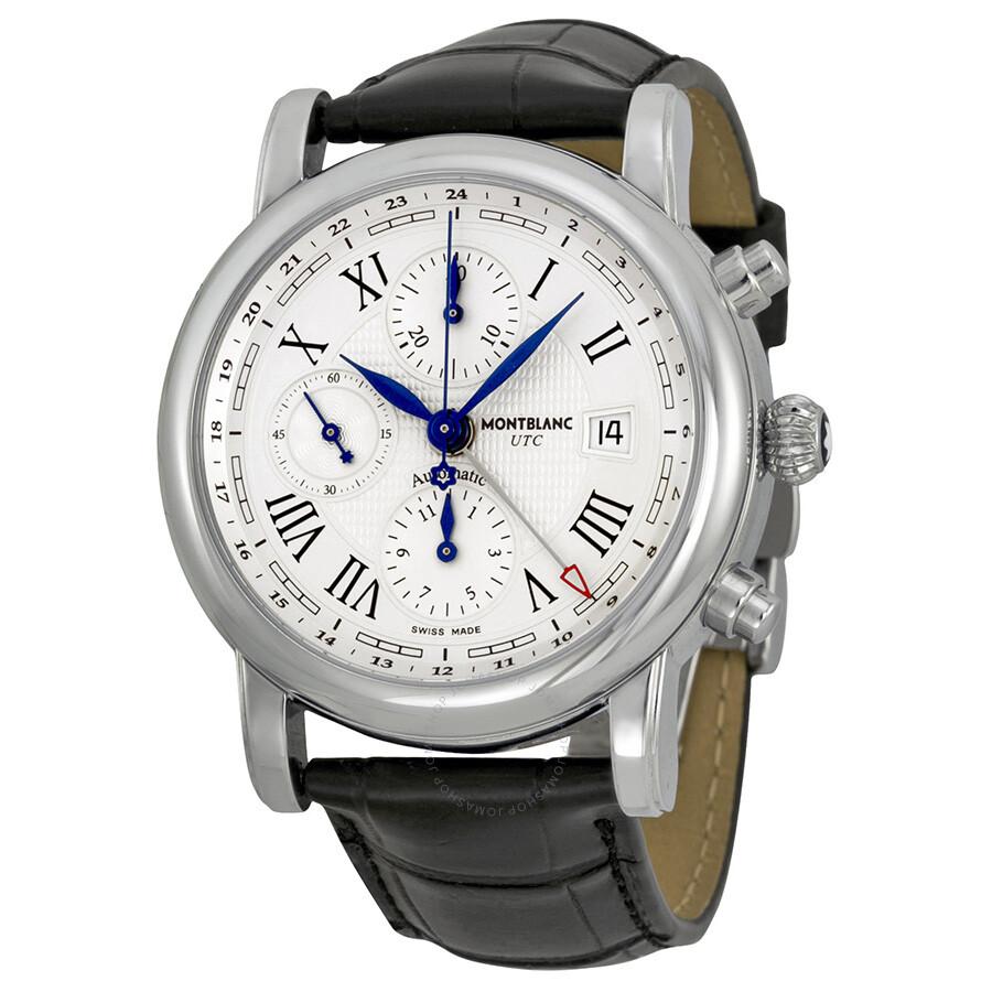 montblanc chronograph utc automatic stainless steel