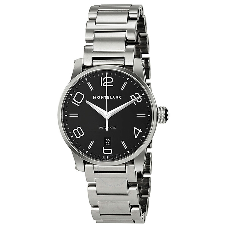 c4c125b5a29 Montblanc Timewalker Automatic Black Dial Stainless Steel Men s Watch  105962 ...