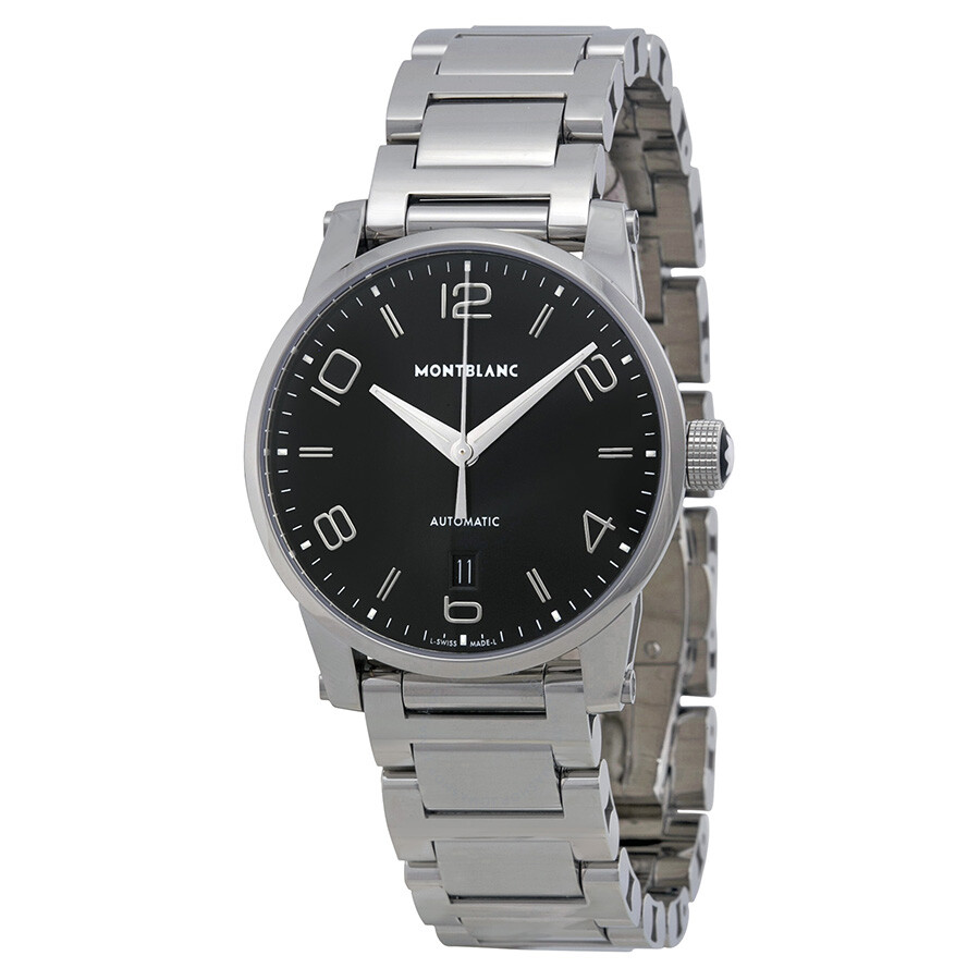 Montblanc timewalker automatic black dial stainless steel for Montblanc house
