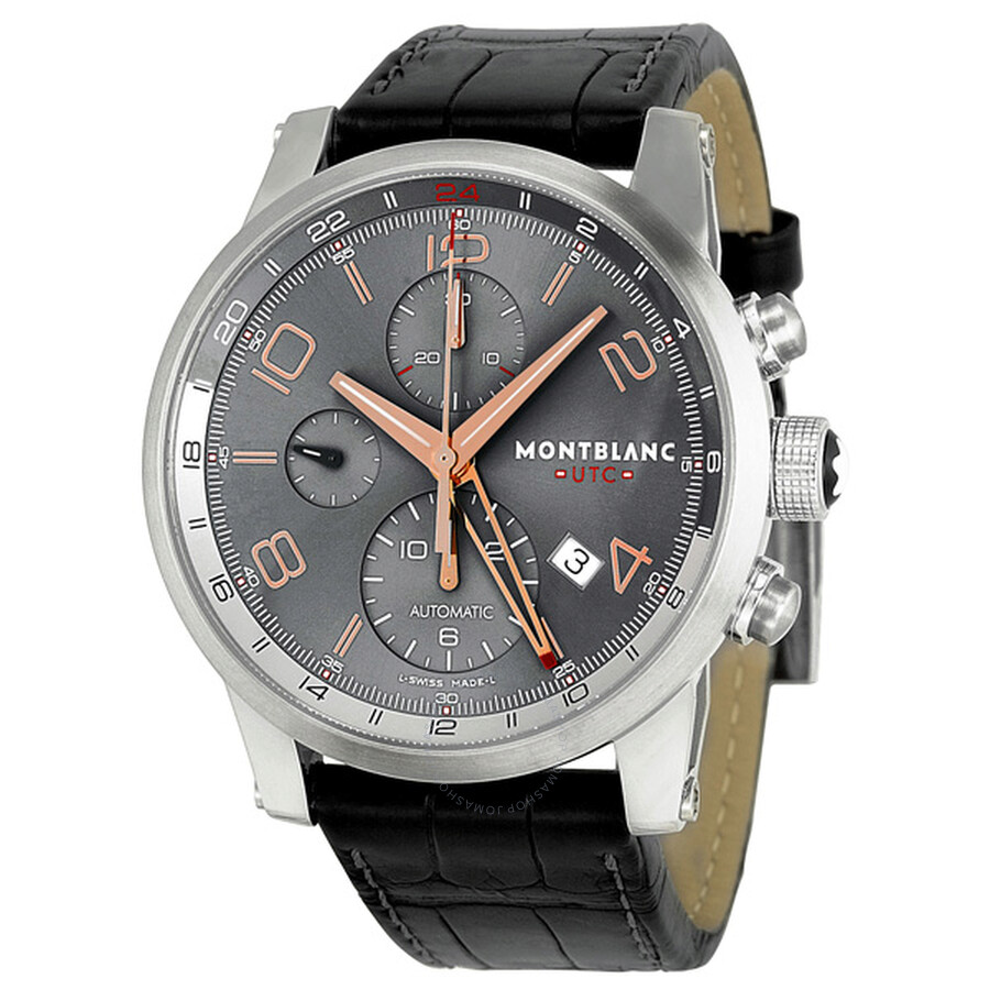 08f972013 Montblanc Timewalker Automatic Chronograph Anthracite Dial Men's Watch  107063 ...